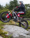 Motorcycle Trials Rider. Stock Image