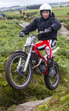Motorcycle Trials Rider. Stock Images
