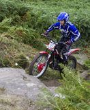 Motorcycle Trials Rider. Royalty Free Stock Photo