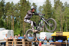 Motorcycle Trials by Timo Myohanen Royalty Free Stock Image