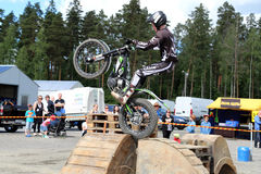 Motorcycle Trials by Timo Myohanen Stock Photo