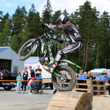 Motorcycle Trials by Timo Myohanen Royalty Free Stock Photography