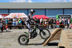 Motorcycle Trials by Timo Myohanen Stock Image