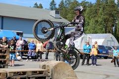 Motorcycle Trials by Timo Myohanen Royalty Free Stock Photos