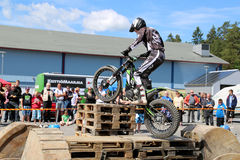 Motorcycle Trials by Timo Myohanen Royalty Free Stock Photos