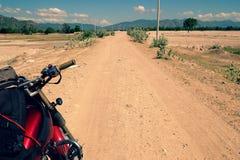 Motorcycle trip to adventure Vietnam Stock Photo