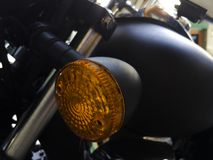 Motorcycle turn signal. LED light Stock Photography