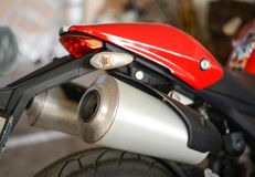 Motorcycle twin exhaust Royalty Free Stock Photo