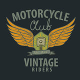 Motorcycle typographic for t-shirt,tee graphics Stock Photo