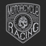 Motorcycle typography, t-shirt graphics Royalty Free Stock Image