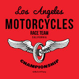 Motorcycle typography t-shirt graphics print vector Stock Photos