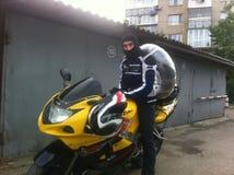 Motorcycle. Tyre wheel speed sport Royalty Free Stock Photo