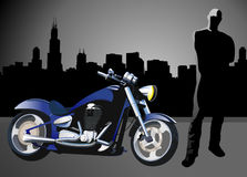 Motorcycle vector Background Stock Photo