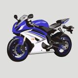 Yamaha r6. Vector blue motorcycle factory racing stock illustration