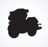 Motorcycle. Vector drawing Stock Photos