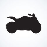 Motorcycle. Vector drawing Stock Image