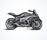 Motorcycle. Vector drawing Royalty Free Stock Photography