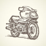 Motorcycle. Vector drawing Stock Images