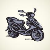 Motorcycle. Vector drawing Royalty Free Stock Photo