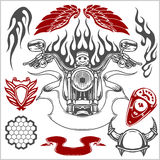 Motorcycle Vector Elements Set Royalty Free Stock Image