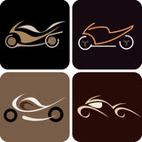 Motorcycle - vector illustration Royalty Free Stock Photos