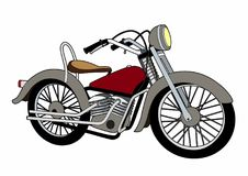 Motorcycle. Vector illustration of a motorcycle, EPS 10 file Royalty Free Stock Photos