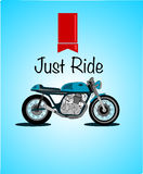 Motorcycle vector retro design Royalty Free Stock Images