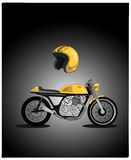 Motorcycle vector retro design Royalty Free Stock Photos
