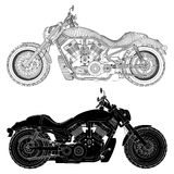 Motorcycle Vector. Speed Motorcycle Engine Line Vector Stock Photo
