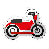 motorcycle vehicle  icon Royalty Free Stock Photo