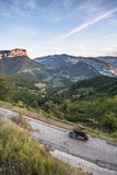 Motorcycle in Vercors, France Royalty Free Stock Images