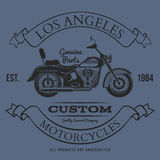 Motorcycle vintage graphics, t-shirt typography, Vintage Royalty Free Stock Images