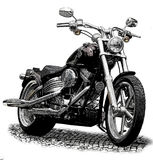 Motorcycle. Vintage gravure style effect Royalty Free Stock Photos