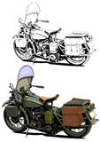 Motorcycle vintage illustration Stock Images