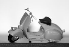 `Vespa` model used for the Roman holiday film - Vespa 98 - 1946. Motorcycle vintage Italy; Piaggio - Vespa 98 - year 1946 Stock Photo