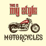 Motorcycle vintage my style. Illustration vintages of classic motorcycle vintage. with All about soul for community and motor club vector illustration
