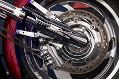 Motorcycle wheel Stock Photo