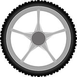 Motorcycle wheel Stock Photos