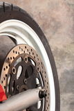 Motorcycle wheel brake Royalty Free Stock Photos