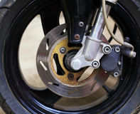 Motorcycle wheel with brake Royalty Free Stock Images