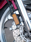 Motorcycle wheel brake Stock Photography