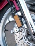 Motorcycle wheel brake. Background in motorbike, motorcycle wheel Stock Photography