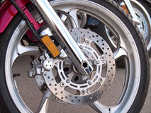 Motorcycle wheel brake Royalty Free Stock Photography