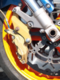 Motorcycle wheel brake Stock Image