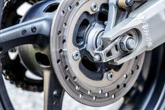 Motorcycle wheel brake background in motorbike, motorcycle wheel Royalty Free Stock Images