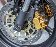 Motorcycle wheel brake background in motorbike, motorcycle wheel Stock Photography