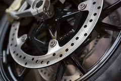 Motorcycle wheel brake Stock Images