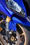 Motorcycle wheel breaks. Disk outdoor stock image