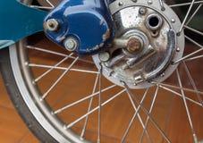 Motorcycle wheel Stock Image