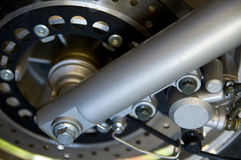 Motorcycle wheel - close-up Royalty Free Stock Images